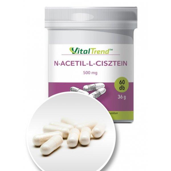 N-acetil-L-cisztein kapszula 500 mg - 60 db