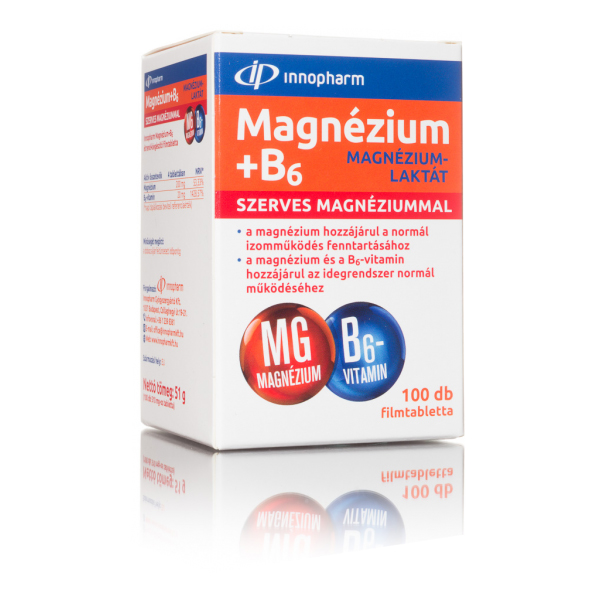 Magnézium-Laktát 200mg + B6 Vitamin 20mg kapszula - 100db