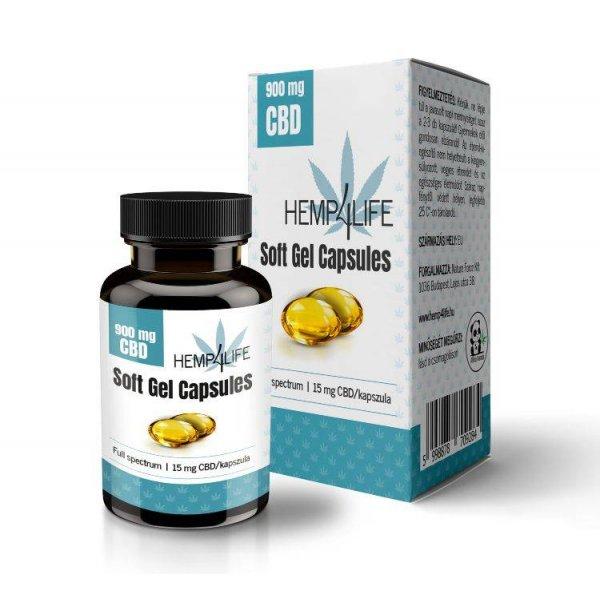 Hemp4Life Lágy Gél Kapszula CBD - 900 mg