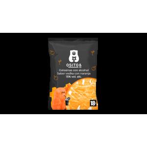 VODKA-NARANCS ízű alkoholos gumicukor 120g - 30db