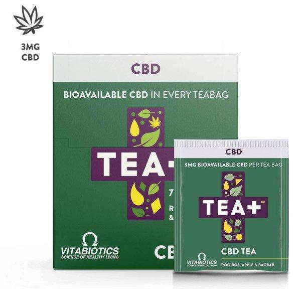 Vitabiotics tea+ cbd tea 7 db, 16 g