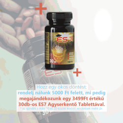Ajándék 30 db-os ES 7 Agyserkentő Tabletta!